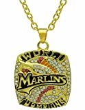NewBurn Miami Marlins 3D Rhinestone Sparkle Chain Necklace