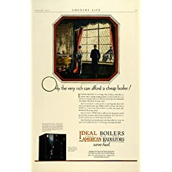 1924 Ad Ideal Type A Boilers Coal Oil Gas Radiators Heating Home Improvement - Original Print Ad