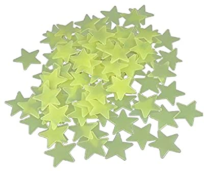 1 Pack of 100pcs Home Wall Glow in the Dark Star Stickers Decal Baby Kids Room (brown) from Sunny
