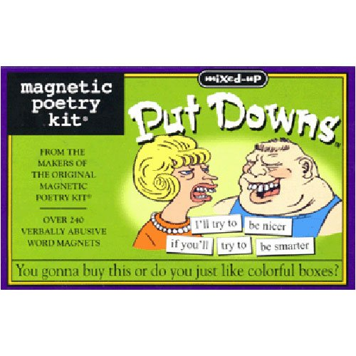 MIXED-UP PUT DOWNS MAGNETIC POETRY - Buy MIXED-UP PUT DOWNS MAGNETIC POETRY - Purchase MIXED-UP PUT DOWNS MAGNETIC POETRY (Magnetic Poetry, Toys & Games,Categories,Activities & Amusements)