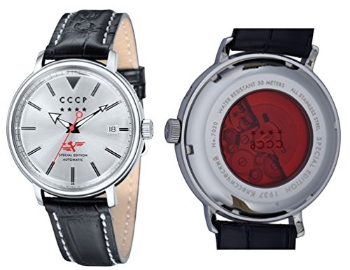 CCCP Men's CP-7020-01 HERITAGE Analog display Automatic Black Watch