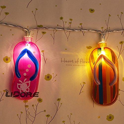 Lidore 20 Counts Flip Flop Party String Lights Best