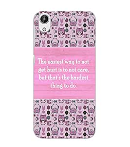 HTC DESIRE 626 + QUOTE Back Cover by PRINTSWAG