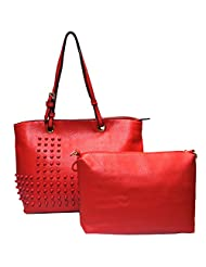 Frenchxd Myra Moon Premium Handbag For Women (Red)
