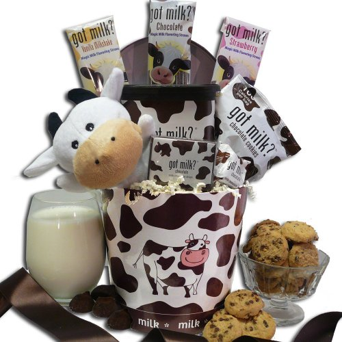 Art of Appreciation Gift Baskets Just Add Milk Chocolate Milk and Cookies Gift Basket