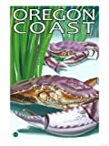 Oregon Coast Crab Travel Premium Poster Print, 18x24