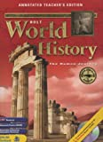 img - for Annotated Teacher's Edition Holt World History: The Human Journey book / textbook / text book