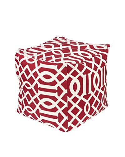 Surya Storm Pouf, Red