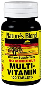 Nature's Blend Multi-Vitamin No Minerals 100 Tablets