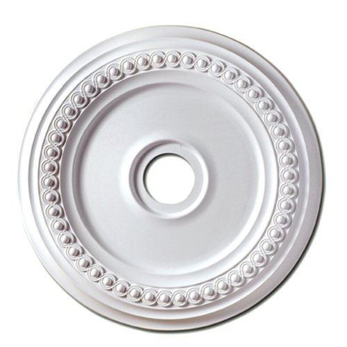 Focal Point 83218 18-Inch Rondel Medallion 18 3/8-Inch by 18 3/8-Inch by 1 1/8-Inch, Primed White