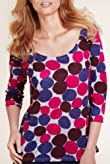 Per Una 3/4 Sleeve Spotted Top [T62-5337G-S]