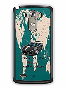 YuBingo Don't Call it a Dream, Call it A Plan Designer Mobile Case Back Cover for LG G3