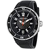Philip Stein Mens 34-BB-RB Extreme Black Rubber Strap Watch