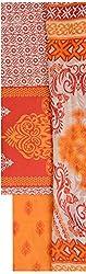 NAVRANG Women's Cotton Dress Material (NDT02, Orange)