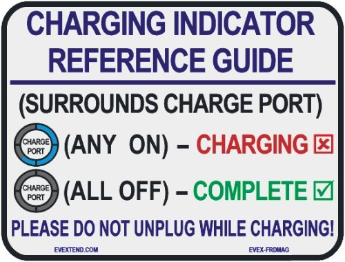 Ev Extend (Evex-Frdmag-Ffe) White Charging Reference Magnet For Ford Focus Electric