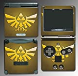 Legend of Zelda Link Triforce Shield Video Game Vinyl Decal Cover Skin Protector for Nintendo GBA SP Gameboy Advance Game Boy