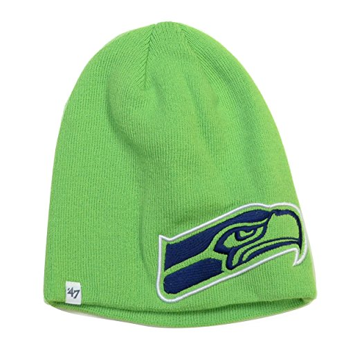 Seattle-Seahawks-Lime-47-Brand-Mammoth-Knit-Hat
