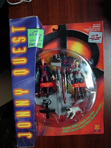 1996 Jonny Quest Galoob Night Mission with Silent Storm Jessie and Night Stryker Johnny Quest (Jonny Quest Action Figure compare prices)