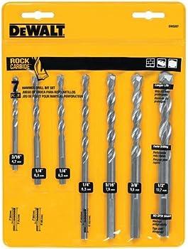 Dewalt Premium Percussion Masonry Drill Bit Set