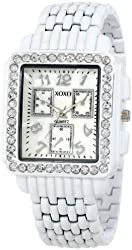 XOXO Women's XO5409  White Bracelet With Rhinestones Accent Watch