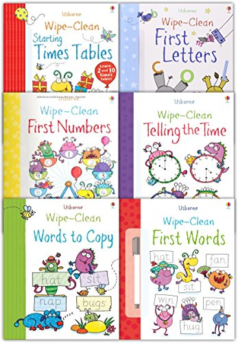 usborne-wipe-clean-books-pack-set-learn-to-write-6-books-collection-set-with-marker-pen