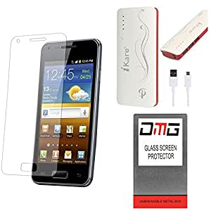DMG Pack of 9 Tempered Glass for Micromax Canvas 4 Plus A315 + 10000 mAh Power Bank