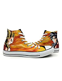 Dragon Ball Unisex Converse Shoes Anime Hand Painted All Star Canvas Shoes High Top Sneaker
