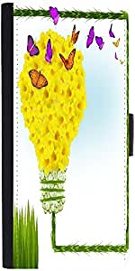 Snoogg Floral Background Designer Protective Flip Case Cover For Moto-E