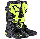 Alpinestars Tech 10 RV2 Boots, Primary Color: Black, Size: 8, Distinct Name: Black/Green, Gender: Mens/Unisex 2010014-155-8