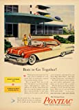 1956 Ad Pontiac Star Chief Catalina Strato-Streak V8 Vehicle Model Orange GM - Original Print Ad