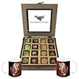 Chocholik - 16Pc Belgian Dark Chocolate With Diwali Special Coffee Mugs - Gifts For Diwali