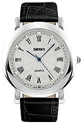Skmei HMWA05S096C0 Analog White Dial Mens Watch