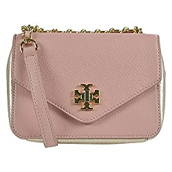 Tory Burch Kira Mini Chain Clutch Indian Rose Champagne Gold
