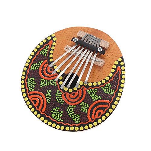 TTnight 7 keys Kalimba Thumb Piano Tunable Coconut Shell Painted Mbira Kalimba Tines Music Instrument (Kalimba Sheet Music compare prices)