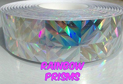 "30 ft. roll of 1"" Rainbow Prisms Metallic Hula Hoop Tape"