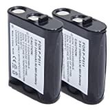 ATC 2PCS 3.6V 2400mAh Cordless Phone Battery for Panasonic P-P511 Tandy/Radio Shack 23965, 439002 AA Battery Black