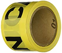 IRWIN Tools STRAIT-LINE 66231 Barrier Tape Roll, CAUTION, 3-inch by 1000-foot (66231)