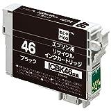 エコリカ リサイクルインクカートリッジ EPSON ブラック ICBK46 ECI-E46B