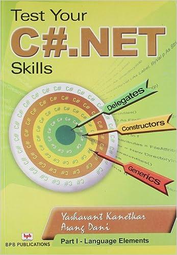 Test Your C# .net Skills: Part 1 - Language Elements First Edition price comparison at Flipkart, Amazon, Crossword, Uread, Bookadda, Landmark, Homeshop18
