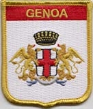 Genoa Italy Flag Embroidered Patch Badge