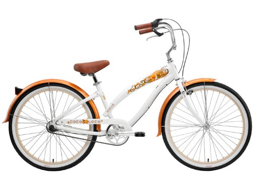 Nirve Coco Loco Ladies 3 speed Bicycle (White/Org)