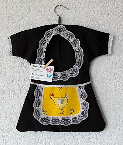 Klammerkleidchen et sacoche pour pinces à linge, klammerkleid, clothespin bag