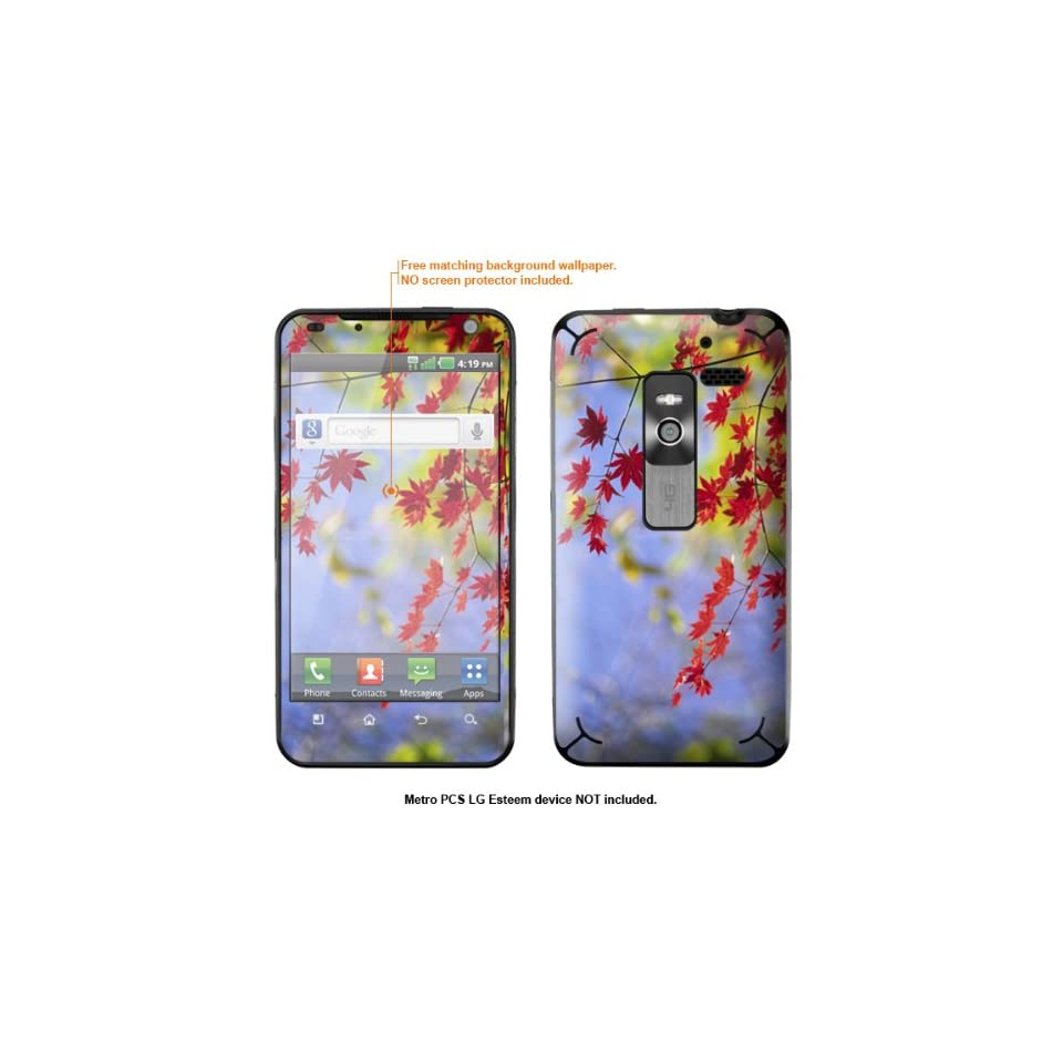 Protective Decal Skin Sticker for Metro PCS LG Esteem 4G case cover Esteem 341