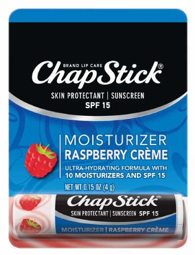 ChapStick Moisturizer Raspberry Creme, 0.15oz (Pack of 6)