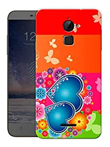 """Multicolor Hearts Printed Designer Mobile Back Cover For """"Coolpad Note 3 Lite"""" By Humor Gang (3D, Matte Finish, Premium Quality, Protective Snap On Slim Hard Phone Case, Multi Color)"""