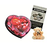 Skylofts Chocolate Valentine's Heart Box With A Cute Teddy & A Love Story Novel