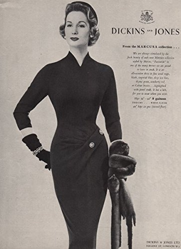 dickins-and-jones-marcusa-colletion-favourite-dress-fashion-advert-1955-old-print-antique-print-vint