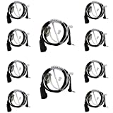 Tenq® 10 Pack Advanced Nipple Covert Acoustic Tube Bodyguard FBI Earpiece Headset for Motorola Cobra Talkabout Walkie Talkie Two Way Radio 1pin