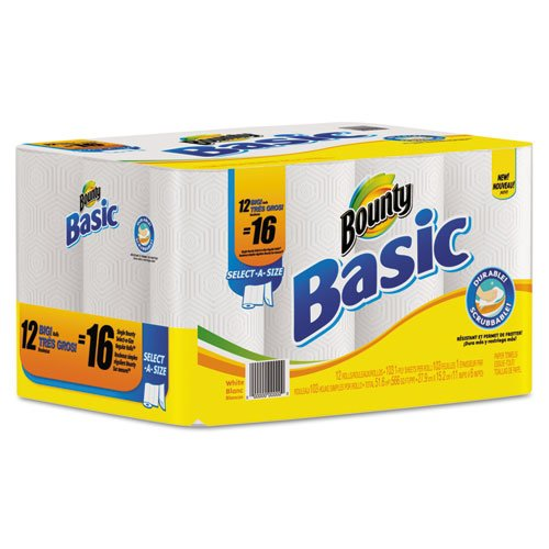 Basic Select-a-Size Paper Towels, 11 x 11, White, 103