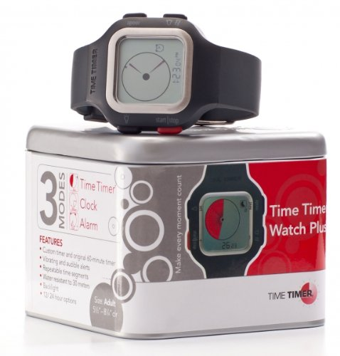 Large Time Timer Watch Plus - Charcoal (Time Timer Watch compare prices)